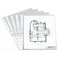 Durable 2660 Punched Pockets, A4, Semi-clear, 100/Pack