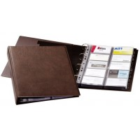 DURABLE 2384 VISIFIX® A4 BUSINESS CARD ALBUM 400 CARDS - BROWN
