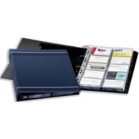 DURABLE 2388 VISIFIX® A4 BUSINESS CARD ALBUM 400 CARDS - DARK BLUE