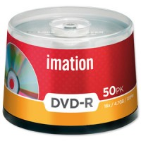 Imation DVD-R, 120Min/4.7GB, 16X, 50/Spindle