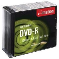 Imation DVD-R, 120Min/4.7GB, 16X, w/ Jewel Case