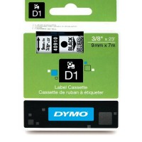 Dymo 40910, D1 Tape, 9mm x 7m, Black on Clear