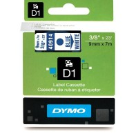 Dymo 40914, D1 Tape,9mm x 7m, Blue on White