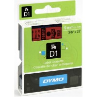 Dymo 40917, D1 Tape,9mm x 7m, Black on Red