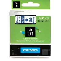 Dymo 45804, D1 Tape,19mm x 7m, Blue on White