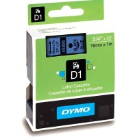 Dymo 45806, D1 Tape,19mm x 7m, Black on Blue