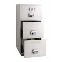 Eagle SF-680 - 3EKX 3 Drawer Fire Resistant Filing Cabinet 1 Key + Electronic Lock