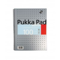 Pukka Editor Mettalic Pad, 80gsm, Ruled, Wirebound, A4, 100 pages
