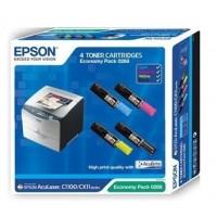 Epson Aculaser C1100 / CX11N / CX11NF 4-Color Toner Cartridge Value-Pack