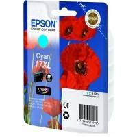 Epson 17 Poppy Claria Home Cyan Ink Cartridge