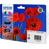 Epson 17 Poppy Claria Home Ink Cartridge Multipack (B/C/M/Y)