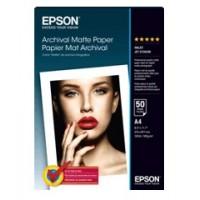 Epson S041342 Archival Matte Paper, DIN A4, 192g, 50 Sheets