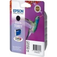 Epson T0801 Black Ink Cartridge (Hummingbird)