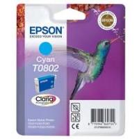 Epson T0802 Cyan Ink Cartridge (Hummingbird)