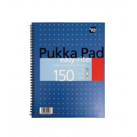 Pukka Easy Ritter Mettalic Pad, 80gsm, Wiredbound, A4, 150 pages