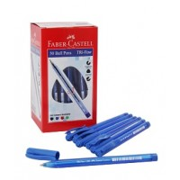 Faber Castell 1433 Tri-Flow Ball Pen 1.0mm PK/50 Blue