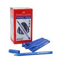 Faber Castell 1433 Tri-Flow Ball Pen 1.0mm PK/50 Blue