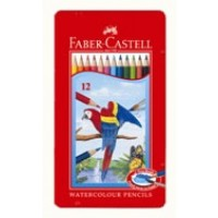Faber Castell Watercolor Pencils Tin Case [Pack/12]