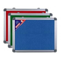 Felt Notice Board, Aluminium Frame, 90cmx150cm, Blue