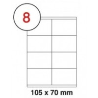 105 x 70mm White A4 Labels, 8 Per Sheet - Pack of 100 Sheets [800 Labels]