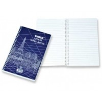 FIS Side Spiral Notebook, White, Lined, 205x127mm, 80 Sheets
