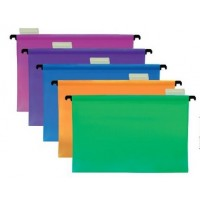 FIS PP Hanging File Foolscap PK/5 Assorted