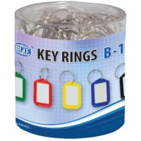 Standard Key Tags Assorted Colors, PK/25