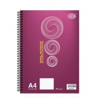 FIS Side Spiral Notebook, White, Lined, A4, 70 Sheets