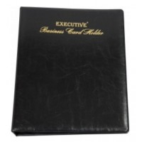 FIS Executive Business Card Holder A4 (400 Cards) with A-Z Index