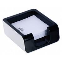 FIS Plastic Memo Cube Holder, Balck/White [FSMM2002E]