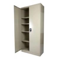 Full Height Steel Cupboard Swing Door 4-Shelves Beige