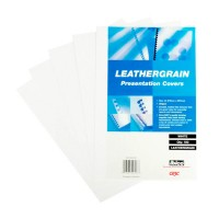 GBC LeatherGrain Binding Cover, 250gsm, A4, White, [Pack of 100]