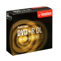 Imation DVD+R DL 2.4x 8.5GB Double Layer, Jewel Case Pack of 10