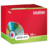 Imation DVD-RW,  120Min, 4.7GB, 4X, w/ Jewel Case