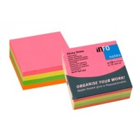 "Info Notes 5654-39 Self-Sticking Note 3"" x 3"" Neon Colors PK/4X100"
