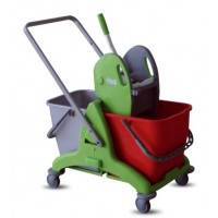 IPC TRIS 50 Double Mop Bucket w/ Wringer 2 x 25L - [ITALY]