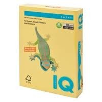 IQ Colored Copy Paper, Canary Yellow, A4, 80gsm, 500 Sheets/Ream