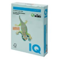 IQ Colored Copy Paper, Pale Blue, A4 Size, 80gsm, 500 Sheets/Ream, Ref: BL29