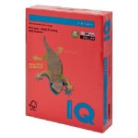 IQ Colored Copy Paper, Coral Red, A4 Size, 80gsm, 500 Sheets/Ream, Ref: C044