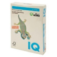 IQ Colored Copy Paper, Cream, A4 Size, 80gsm, 500 Sheets/Ream, Ref: CR20