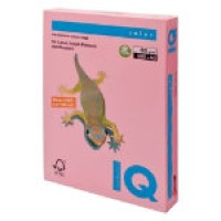 IQ Colored Copy Paper, Pink, A4 Size, 80gsm, 500 Sheets/Ream, Ref: P125