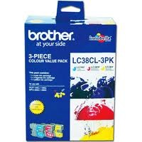 Brother LC38CL3PK Bundle (C/M/Y) Ink Cartridge
