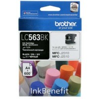Brother LC563BK Black Ink Cartridge (600 Pages)