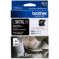 Brother LC567XL-BK Black Ink Cartridge (1200 Pages)