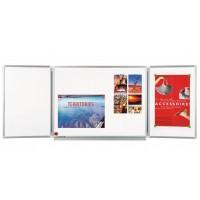 Legamaster 7-100363 Slate Professional Whiteboard 3 Panels 100X150CM