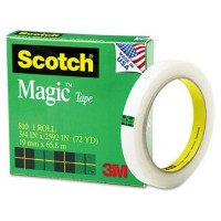 "3M Scotch 810-3472 Magic Tape, Large Core 3/4"" X 72 Yards"