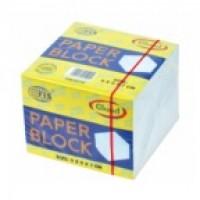 FIS FSBL9X7G Memo Cube Refill Paper White Glued