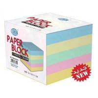FIS FSBL9X9X7PC5 Memo Cube Refill Paper 5 Pastel Colors