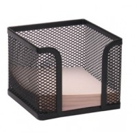 Metal Mesh Memo Cube Holder, Black