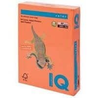 IQ Colored Copy Paper, Orange, A4, 80gsm, 500 Sheets/Ream Ref: OR43